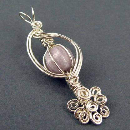 Caged Bead Wire Wrapped Pendant Tutorial
