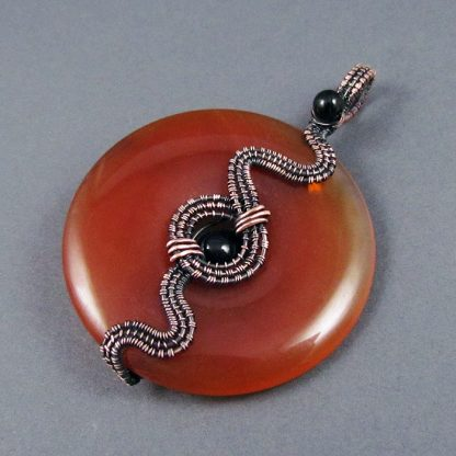 Wire Wrapped Donut Pendant Tutorial