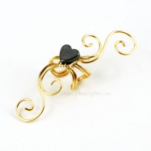 Wire Wrapped Swirly Ear Cuff Tutorial