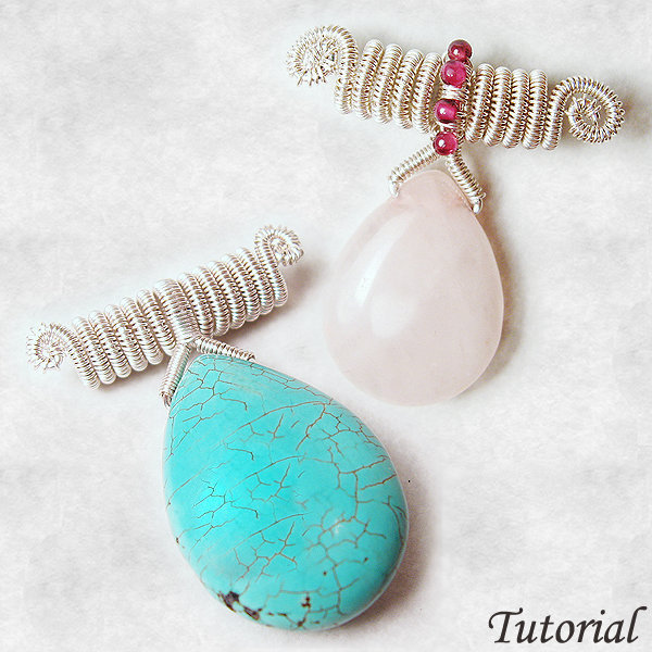 Coiled Wide Bail Pendant – Wirewrapped Pendant Tutorial – Wire ...