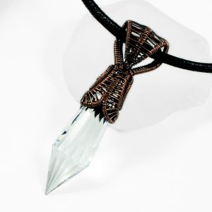 Copper Cobra Head Prism Pendant